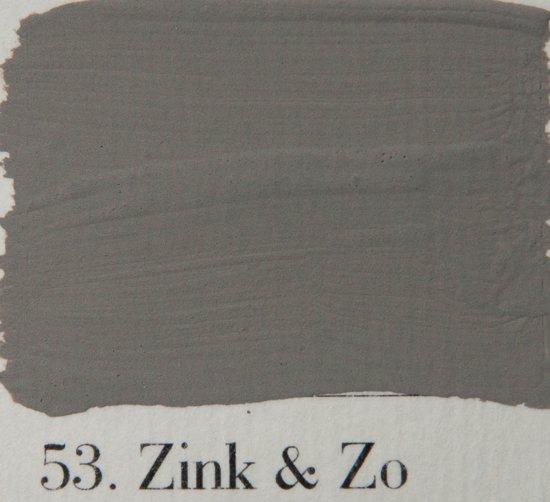 L 39 authentique krijtverf kleur 53 zink en zo 2 5 lit - Kleur grijs zink ...