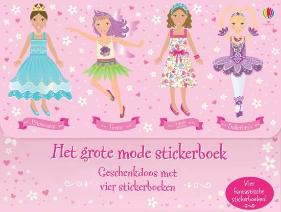 Grote mode stickerboek - geschenkdoos met 4 stickerboeken