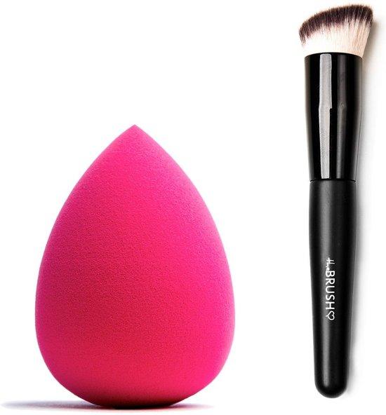 Combideal The Make-Up Blender Pink + The Brush Kabuki Buffer Brush