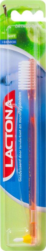 Lactona Orthodontic Borstel Soft 3 Row - Tandenborstel