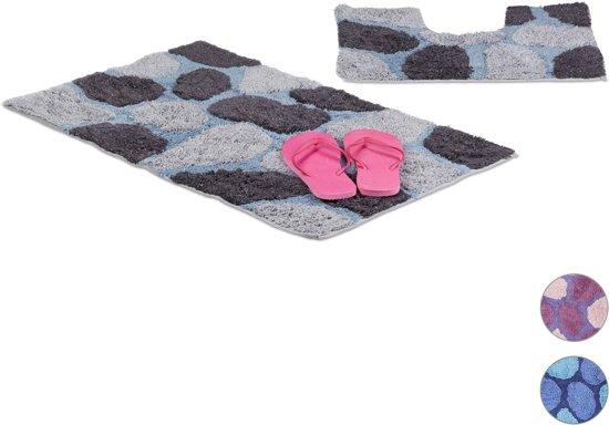 Design Badkamer Matten : Bol relaxdays badkamermatten set delig stone design