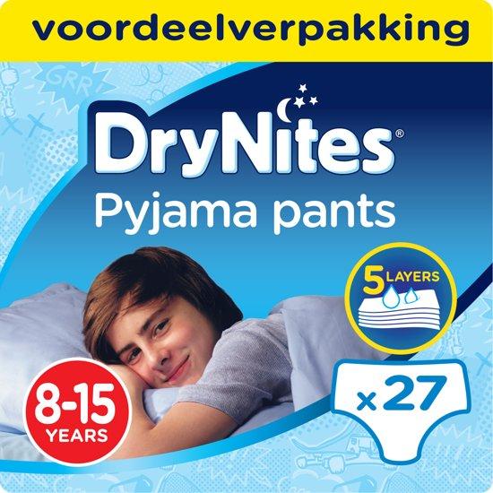 Huggies Drynites Boy 8-15 jaar - 3x 9 stuks - Absorberende broekjes - Voordeelverpakking