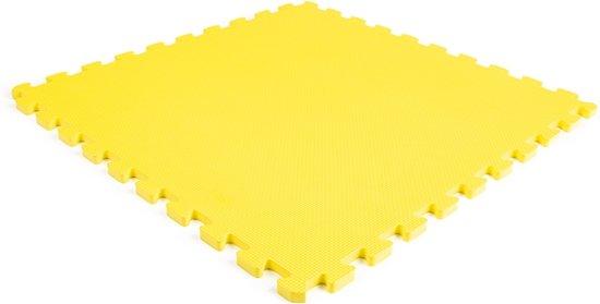EVA foam tegel geel 62x62x1,4cm (set 10 stuks)