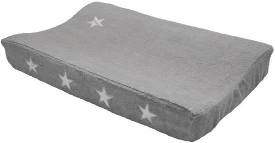 Taftan - Aankleedkussenhoes - Sterren zilver - 72 x 44 cm - grijs