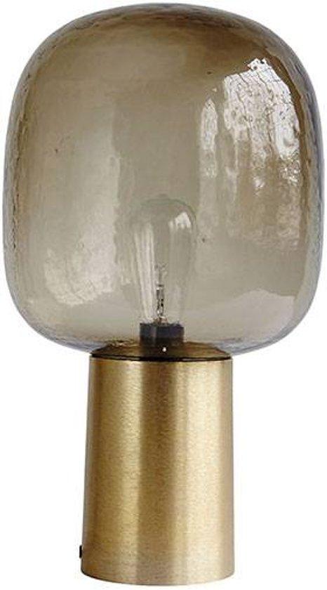 Tafellamp Note in messing en glas van House Doctor