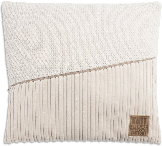 Knit Factory Sam Kussen 50x50 Beige/Beige