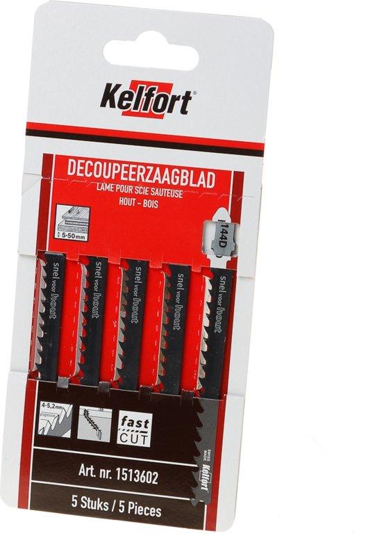Kelfort Decoupeerzaagblad hout KT144D blister van 5 zaagjes