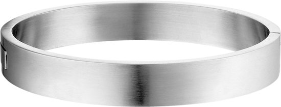 The Jewelry Collection For Men Bangle Massief Scharnier Mat 11,5 X 68 mm - Staal