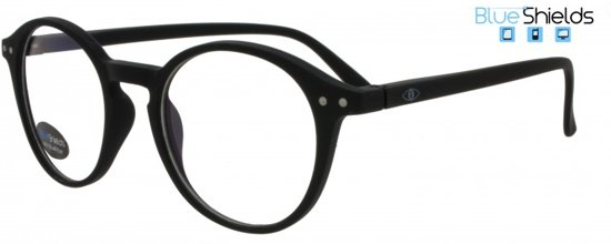 c6aa994535fa5d Icon Eyewear YFB214 +1.50 Ilja BlueShields Leesbril - Blauw licht filter  lens - Zwart