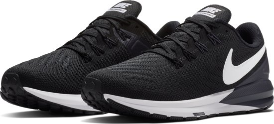 Nike Air Zoom Structure 22 Sportschoenen Dames - Black/White-Gridiron