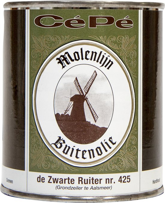 Cépé Molenlijn Buitenolie 425 'De Zwarte Ruiter' Zwart 500 ml