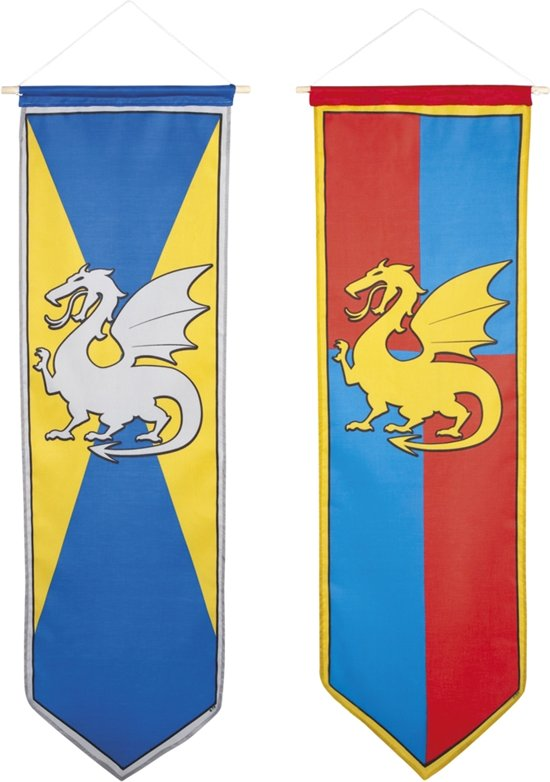 16 stuks: Banner Ridders & Draken 2 assorti - 100x30cm