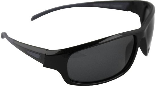 0409ee698f7eb7 Zonnebril Sport Rechthoek Polariserend Glas Zwart Grijs GRATIS Brillenkoker