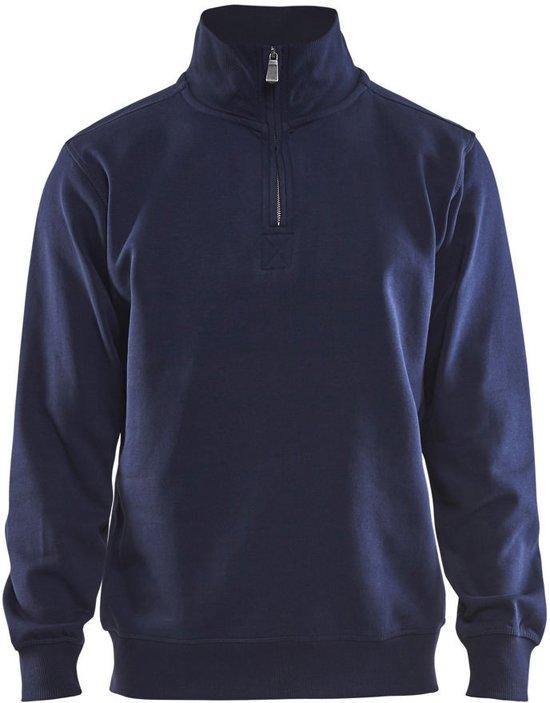 Blåkläder 3365-1048 Sweatshirt Jersey (1/2 Rits) Marineblauw maat M