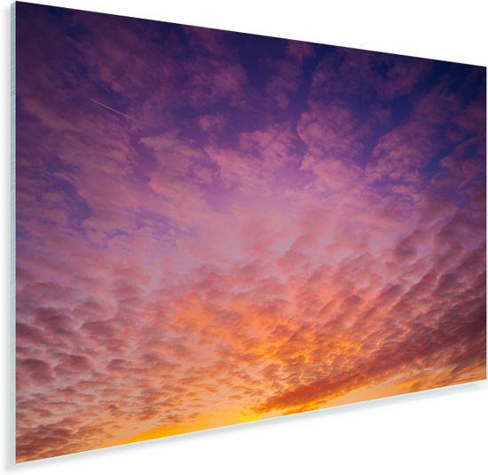 Zonsondergang zorgt voor een kleurrijke hemel in het Duitse Beieren Plexiglas 180x120 cm - Foto print op Glas (Plexiglas wanddecoratie) XXL / Groot formaat!