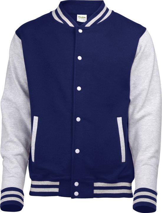 AWDis Varsity jacket, Oxford Navy/Heather Grey, Maat M