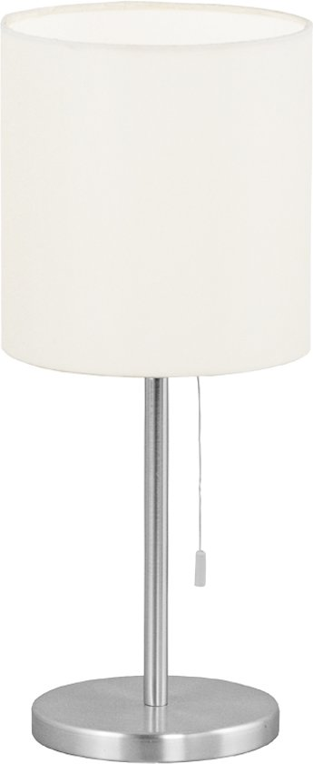 Eglo Sendo - Tafellamp - 1 Lichts - Ø160mm. - Aluminium-Geborsteld - Beige