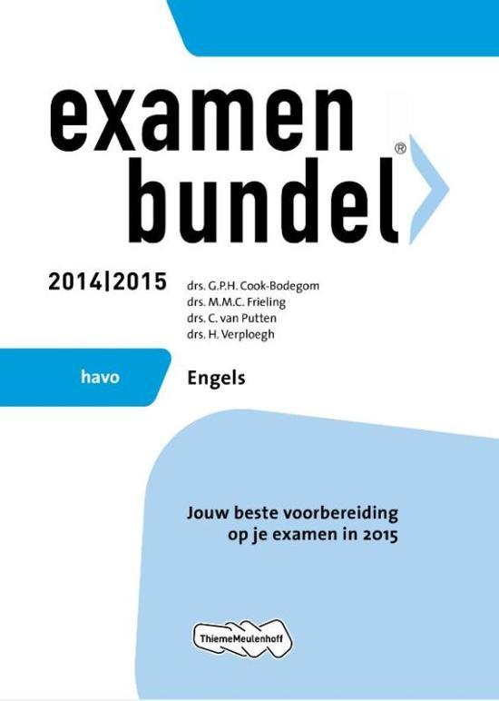 Afbeelding van Examenbundel  - HAVO Engels 2014/2015