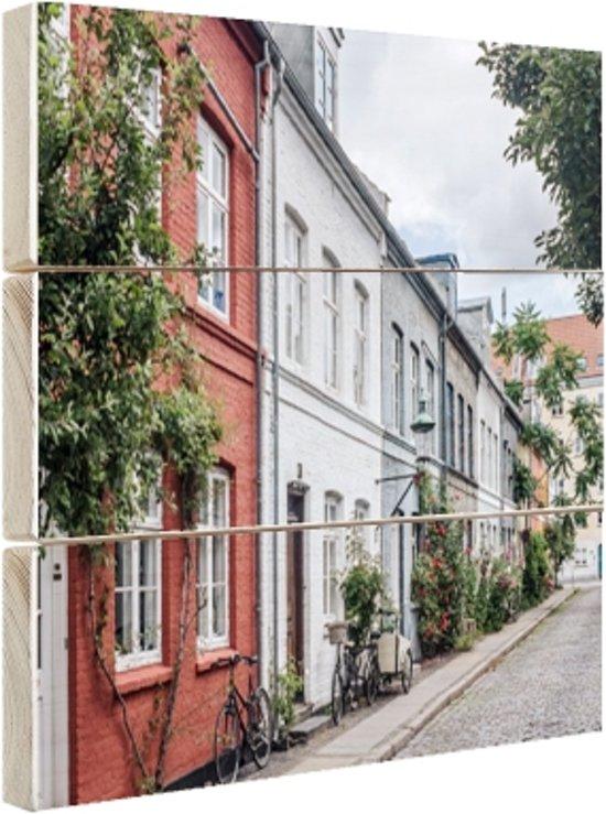 FotoCadeau.nl - Straat Kopenhagen Hout 60x40 cm - Foto print op Hout (Wanddecoratie)