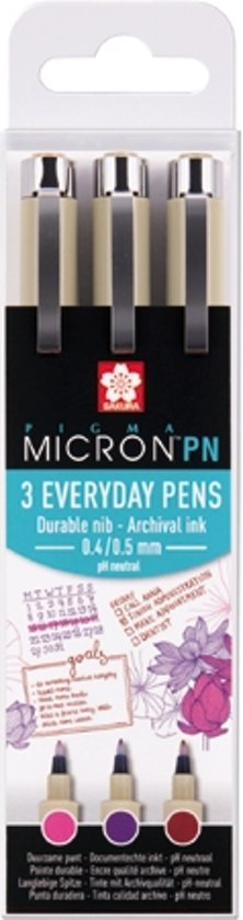 "Sakura Pigma Micron PN 3 pigment pennen ""Crafts"""
