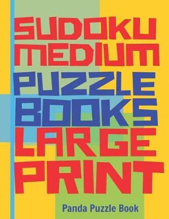Sudoku Medium Puzzle Books Large Print