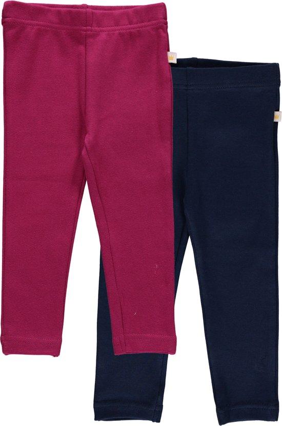 Blue Seven Meisjes Set(2delig) Leggings Rood en Blauw - Maat 62