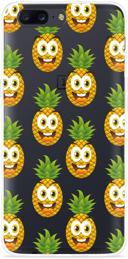 OnePlus 5 Hoesje Happy Ananas