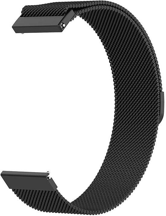 Milanese Loop Armband Voor Samsung Galaxy Watch 42 MM Band Strap - Milanees Armband Polsband - Zwart
