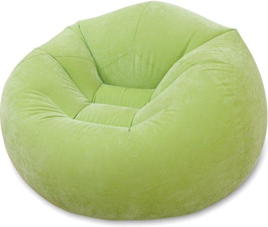 Opblaasbare Lounge Stoel.Intex Opblaasbare Loungestoel Groen 104 X 107 X 69 Cm