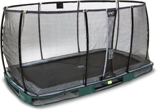 EXIT Elegant Premium Inground Trampoline 244 x 427 cm met Deluxe Veiligheidsnet