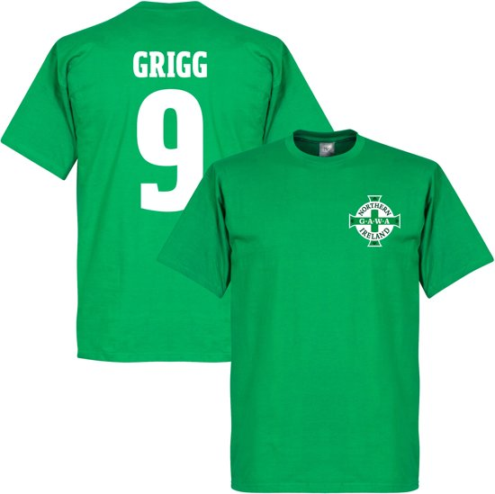 Noord Ierland Logo Will Grigg T-Shirt - XXL