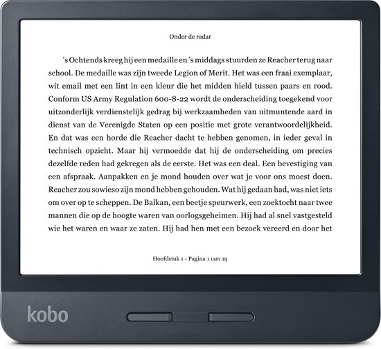 Kobo Libra H2O e-reader - Waterdicht - Grote 7 inch scherm - Instelbaar warme kleur - 8GB - Wifi - Zwart