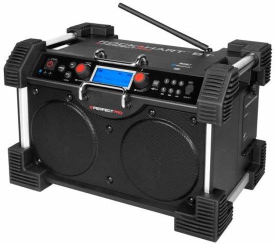 Perfectpro Rockhart BT - Bouwradio - Bluetooth - Dab+ Radio