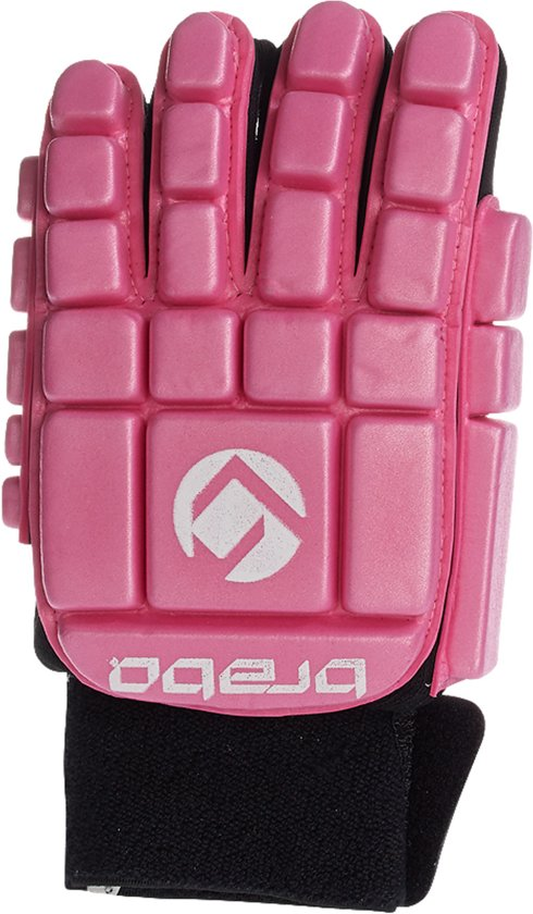 Brabo F3 Indoor Glove Foam Full - Hockeyhandschoen - Unisex - Maat S - Roze/ Zwart