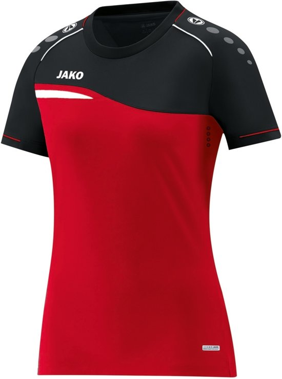 Jako Competition 2.0 Dames T-Shirt - Voetbalshirts  - rood - 44