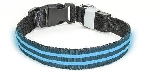 LED Halsband Oplaadbaar Blauw 50-60cm PX1 Hilox