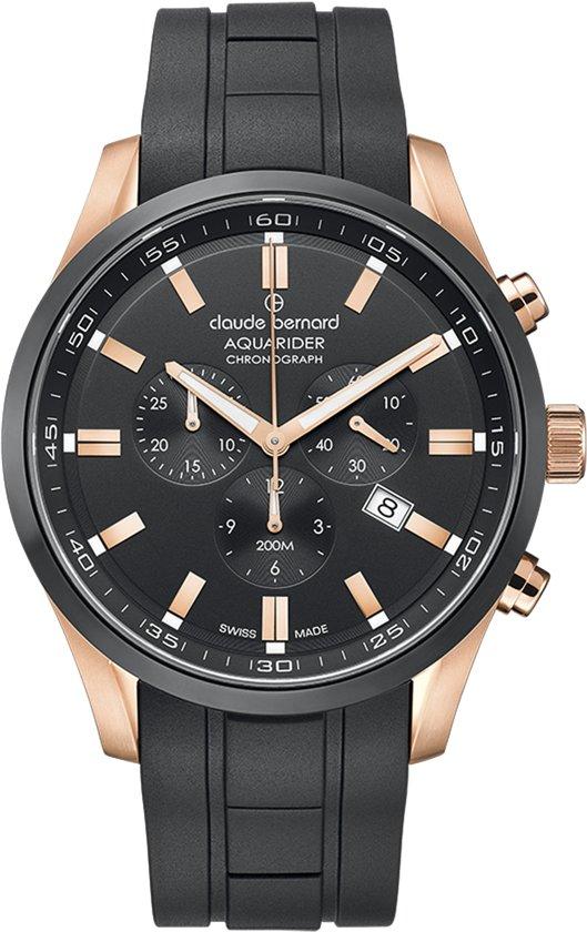 Claude bernard aquarider 10222 37RNCA NIR Mannen Quartz horloge