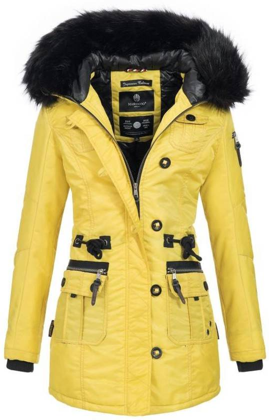 Winterjas Dames Extra Warm.Bol Com Marikoo Warm Dames Winter Jas Winterjas Geel