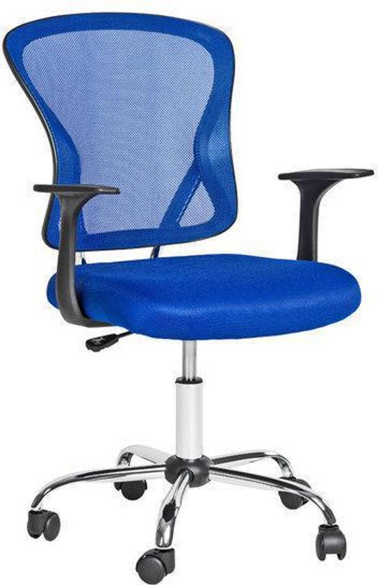 Bureaustoel Kind Blauw.Bol Com Bureaustoel Design Bureaustoelen Stoel Meubel Blauw 401188