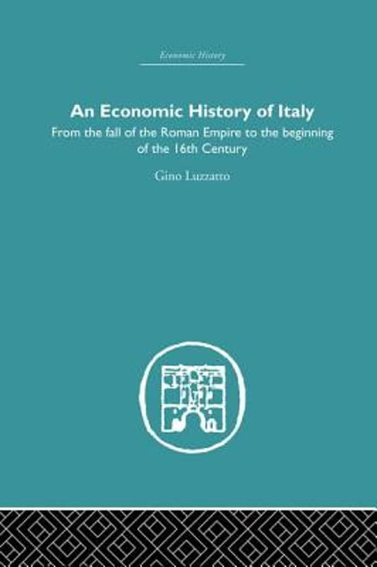 An Economic History of Italy