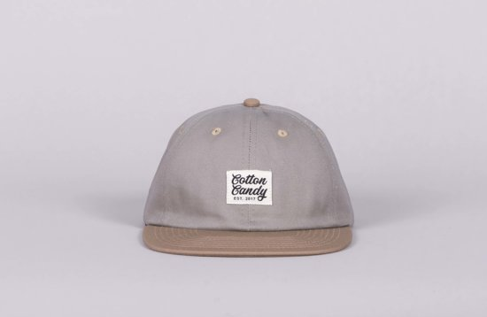 Cotton Candy - 6-panel Cap Grey / Light Brown