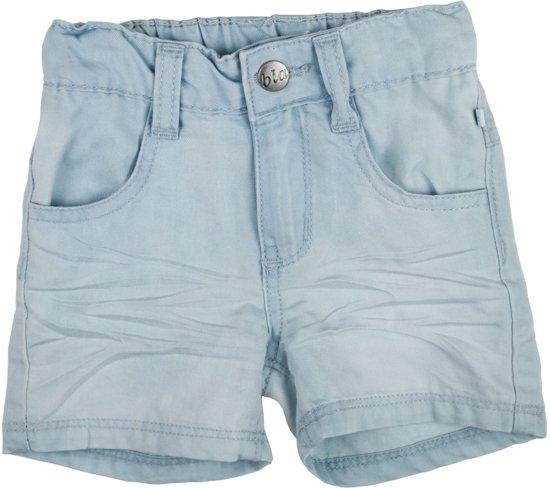 BlaBlaBla licht blauw jongens jeansshort- 68