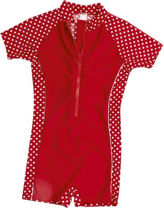 Playshoes UV zwempak Kinderen korte mouwen Dots - Rood - Maat 86/92