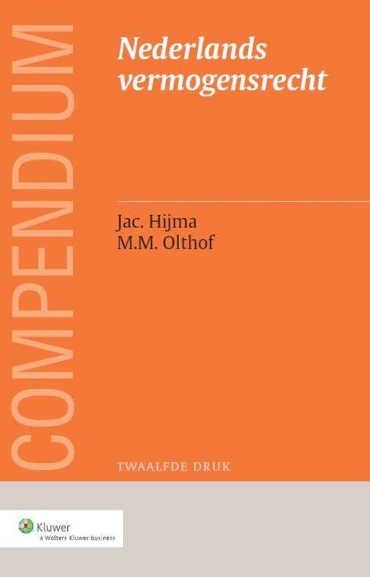 Boek cover Compendium van het Nederlands vermogensrecht van Jac. Hijma (Paperback)