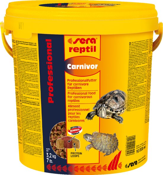 Sera reptil professional Carnivor 10 liter