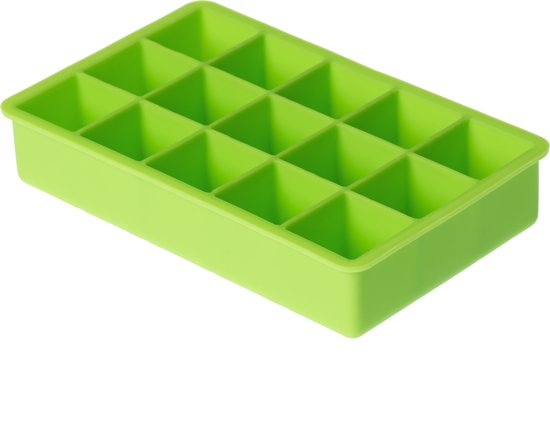 Dotz ijsblokjesvorm - Kubus - Groen - 15 ijsblokjes