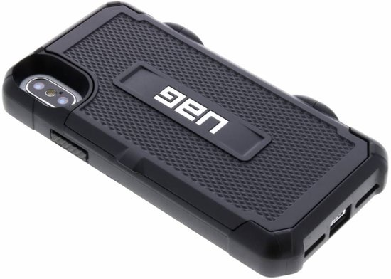 UAG Trooper Card Backcover iPhone X / Xs hoesje - Zwart