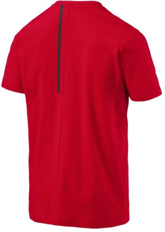 PUMA Ferrari Big Shield Tee Shirt Heren - Rosso Corsa