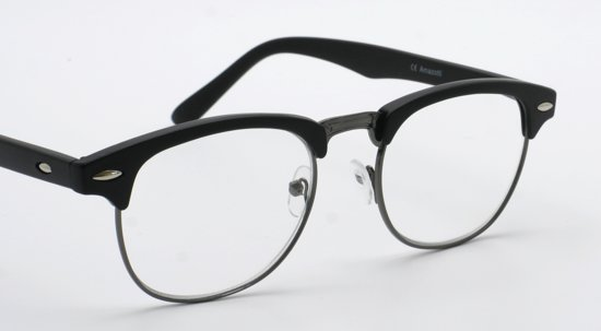 29186a319ea21c Genova retro stijl Clubmaster leesbril van Amazotti