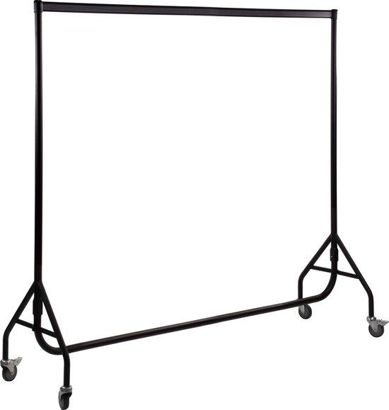 Galantha kledingrek 200 cm - Poedercoating zwart - bxhxd 200x156x52 cm